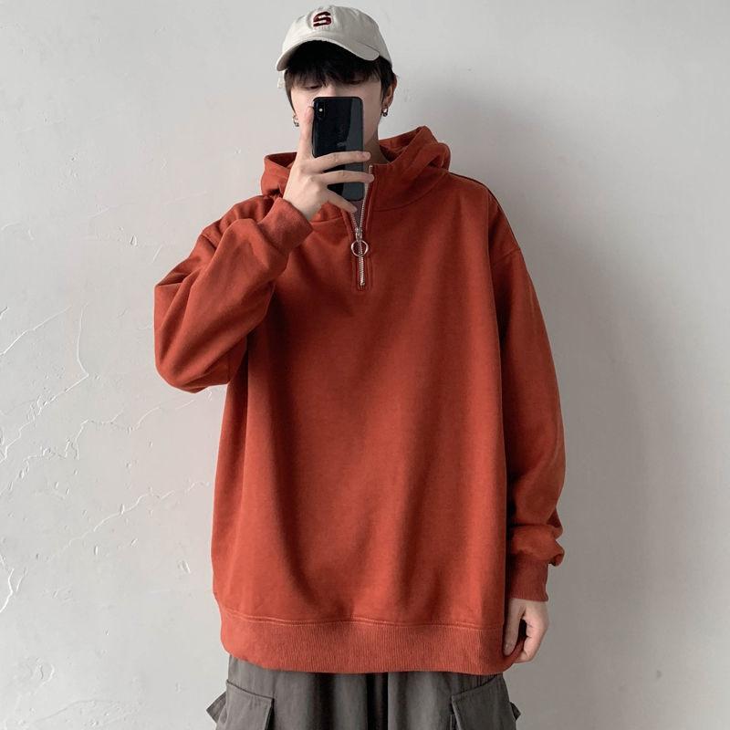 Мужская толстовка с высоким воротником, корейский Повседневный пуловер, толстовка, Мужская модная свободная толстовка, Мужская Уличная оде...