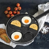 5 round holes frying pan non stick eggs cooking pan applicable gas electric ceramic stove breakfast cookware for home kitchen