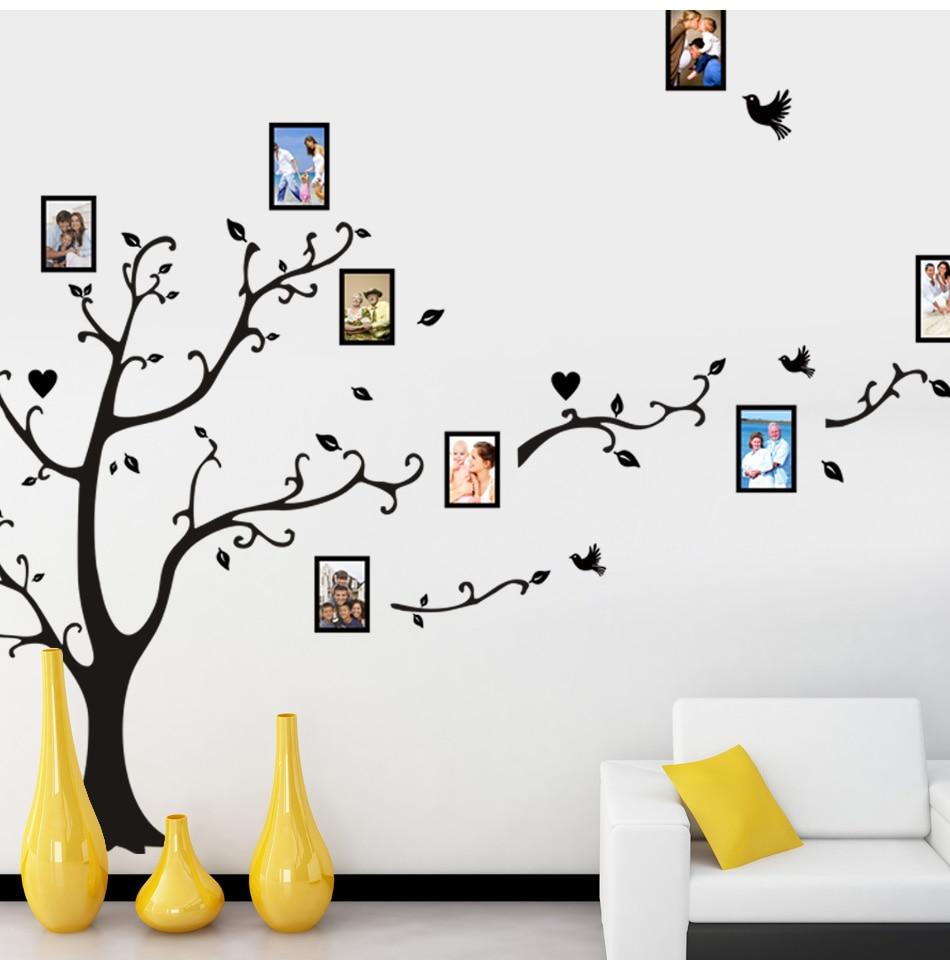 Large size 200x260 cm DIY photo tree vinyl wall sticker living room background wall art wallpaper decorative painting