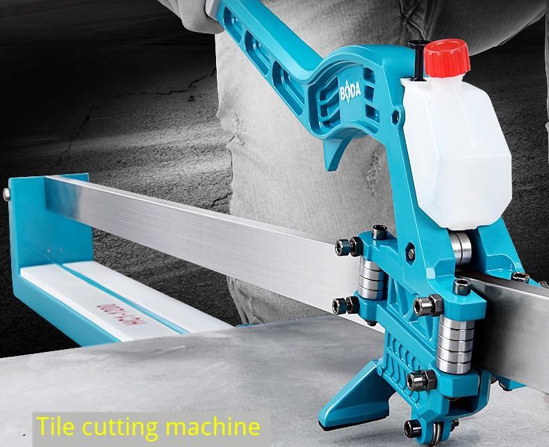 آلة قطع البلاط بالليزر بالأشعة تحت الحمراء ، 800 مللي متر/1000 مللي متر/1200 مللي متر ، قاطع البلاط اليدوي عالي الدقة ، 6-15 مللي متر