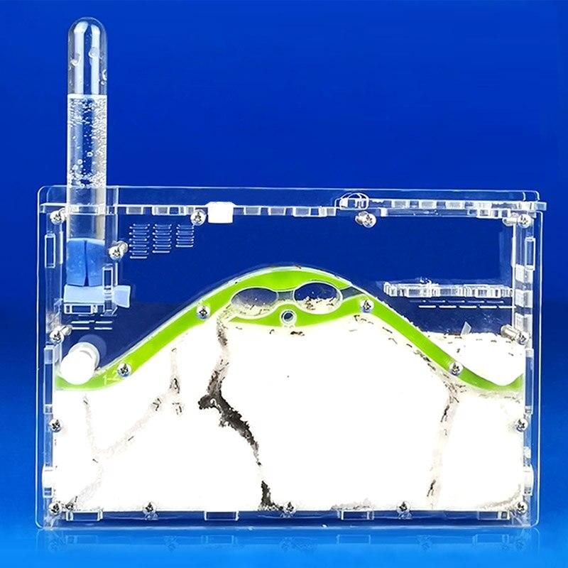 Novo DIY Transparente Acryl Formiga Fazenda, Ecológico Natural Ninho de Formigas, Formiga Inseto Fábrica Casa Castelo de Areia, pet Formigueiro Oficina