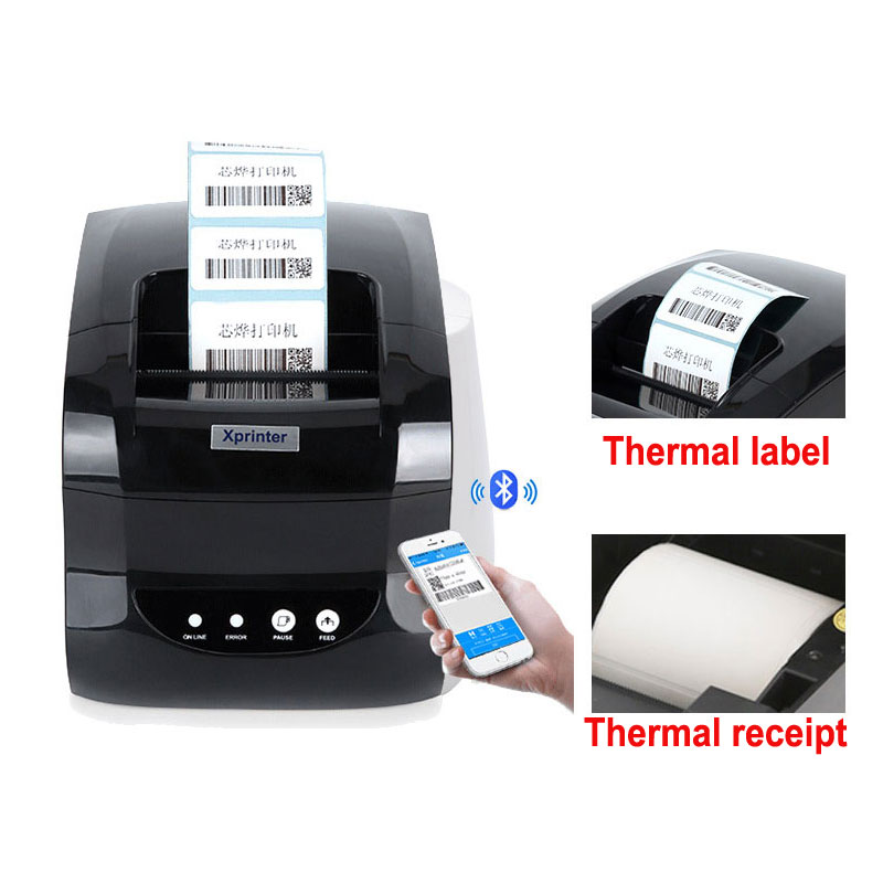 127MM/S USB Port 20mm-80mm Barcode Label Printer Sticker Printer Thermal Barcode Printer 58mm or 80mm  Thermal Receipt Printer cheap usb bluetooth serial pos58 thermal receipt bill ticket printer with cash box port support multiple languages
