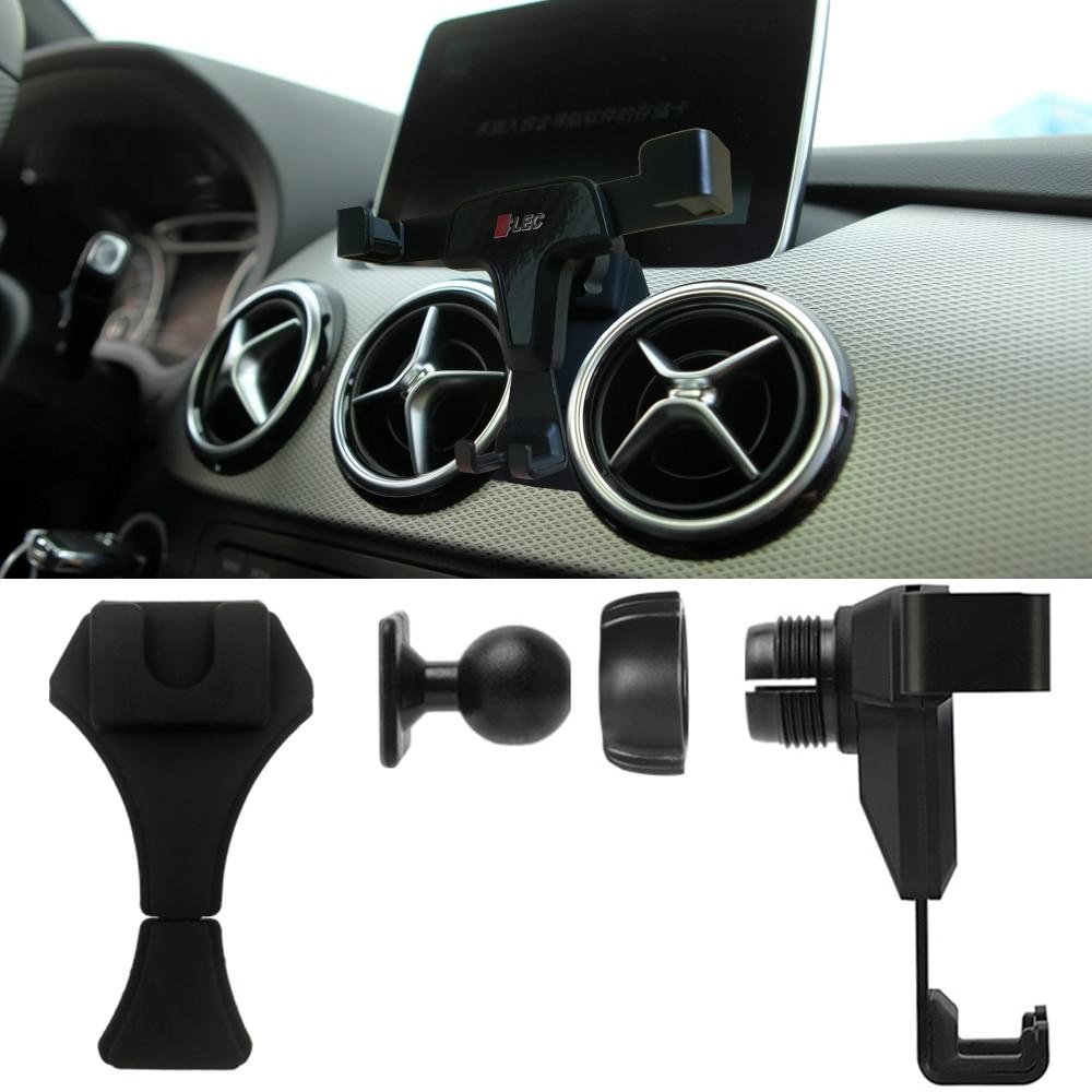 car phone holder for Mercedes-Benz B class W246 W242 B180 B200 B250 air vent clamp 360 Degree Rotation Wireless charging Bracket