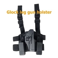 cqc tactical right hand gun holster for glock waist leg pistol case holster with belt loop military hunting accessories