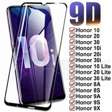 9D ป้องกันสำหรับ Huawei Honor 10 20 30 Lite 10i 20i 30i 8X 8A 8S 9X 9A 9S 9C กระจกนิรภัยหน้าจอป้องกันกระจกนิรภัย