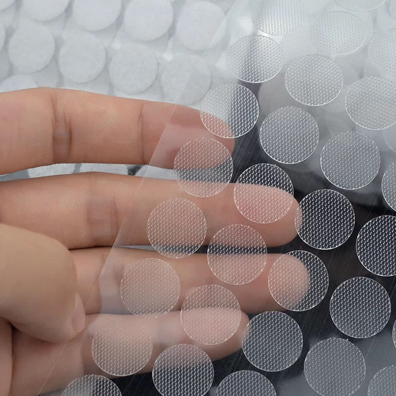 100pairs 10/15/20/25mm Self Adhesive Dots Transparent Baby Fastener Tape Strong Glue Sticker Round V