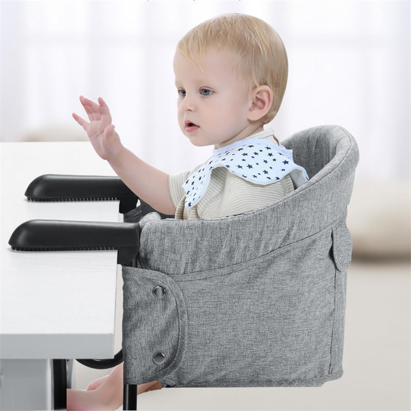 Fashion Baby Portable Booster Dinner Chair Oxford Water Proof Fabric Baby Chair Seat Safety Belt Feeding High Chair