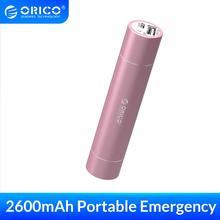 ORICO 2600mAh batterie externe Portable en aluminium batterie dalimentation pour iPhone iPad Xiaomi Samsung LG Android avec SOS lampe de poche