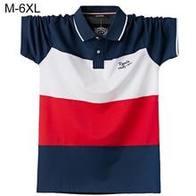 Hommes polos marque coton à manches courtes Camisas solide broderie POLO été col montant homme Polo chemise de grande taille S- 6XL