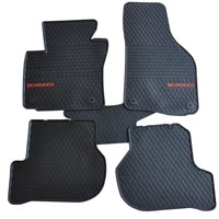 free ship pads wear resistant thick latex rubber foot waterproof car floor mats for volkswagen scirocco