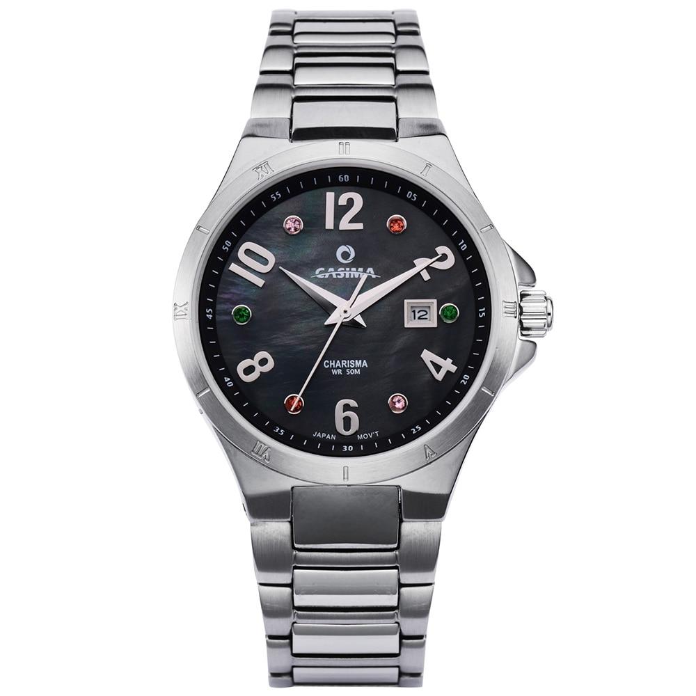العلامة التجارية الفاخرة النساء الساعات موضة عادية أنيقة كوارتز ساعة معصم المرأة مقاوم للماء 50 متر CASIMA #5104