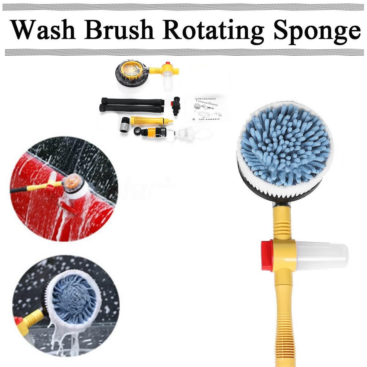 1 Set Car Washing Brush Tool Set Professional Spray Rotating Brush Portable Automatic Cleaning Tool Washing Switch Water