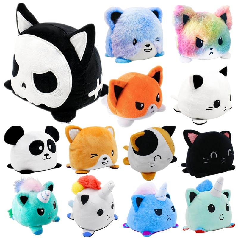 11 Styles Double sided Cat Gato Kids Plushie Plush Animals unicorn Double-Sided Flip Doll Cute Toys Peluches For Pulpos