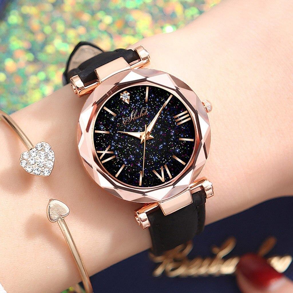 Marque or Rose femmes ciel étoilé montre haut de luxe magnétique dame montre-bracelet femme horloge pour Relogio Feminino 2020 # CL