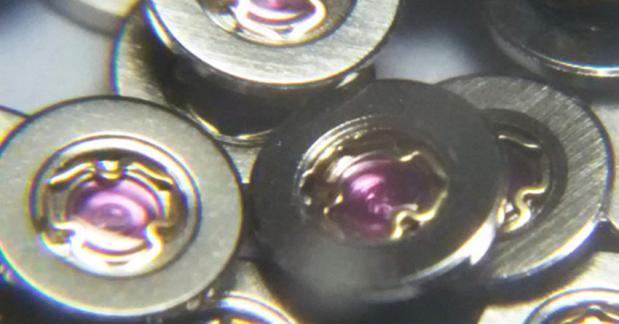 Accesorios de movimiento ETA2824 2824-3024 triángulo amortiguador balance rueda férula en el amortiguador gema resorte