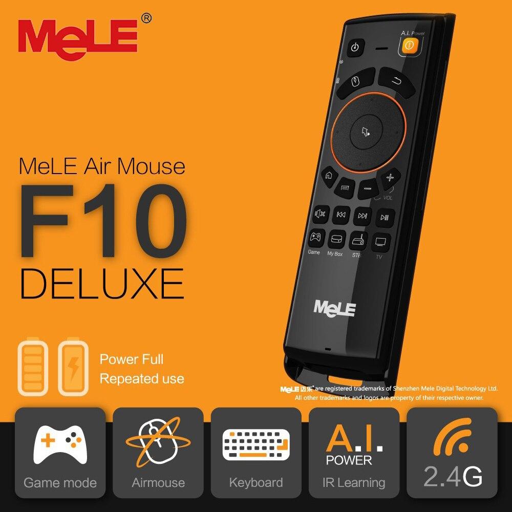 MELE F10 deluxe Fly Air Mouse 6 Ось соматосенсорной 2.4GHz беспроводной пульт дистанционного управления с ИК-функцией обучения мини клавиатура for Smart Android TV тв приставка mini PC