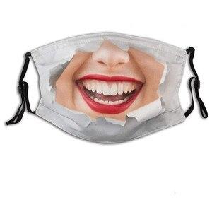 Adult Funny  Printed Ice Silk Mask Washable Reusable Halloween Cosplay Mask Women Scarfs Mascarillas Mondmasker