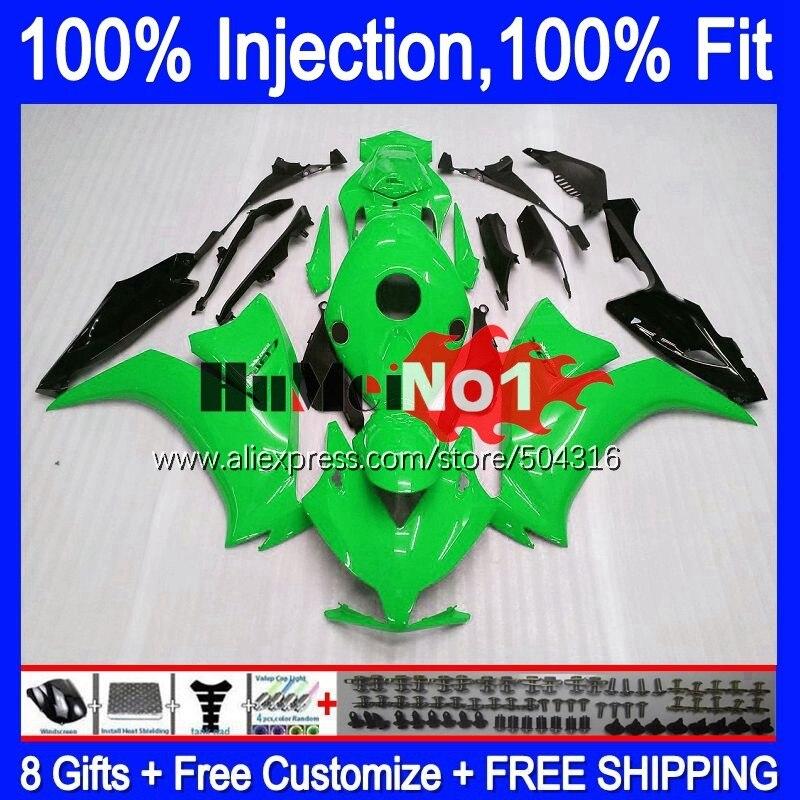 حقن لهوندا CBR 1000RR 1000 CBR1000 RR 2012 2013 14 15 16 118MC.94 الأخضر لامعة CBR1000RR 12 13 2014 2015 2016 هدية
