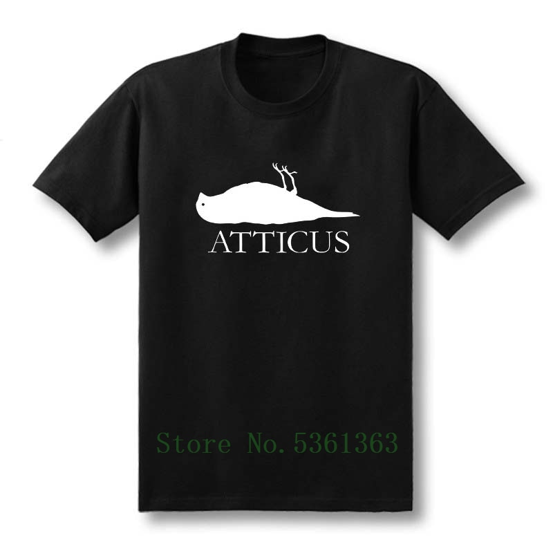 Nowy ATTICUS marka Dead Bird logo t shirt mężczyźni alternatywne koszulki casual t-shirt z krótkim rękawem Top Tees Masculinas rozmiar S-5XL
