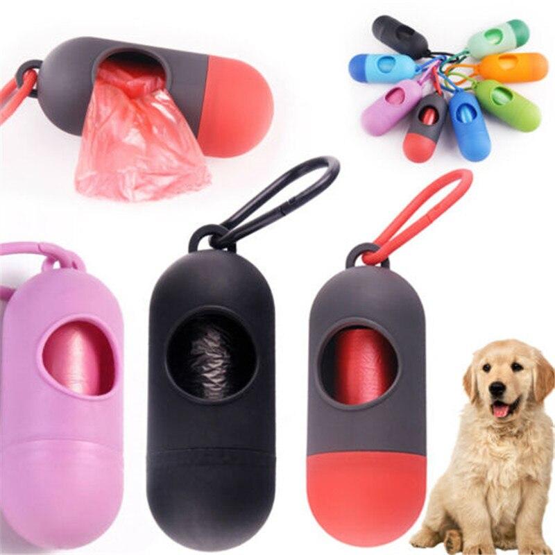 Soporte dispensador Bolsa para popó caja de basura de residuos + bolsa para recoger excrementos bolsos para perro mascota