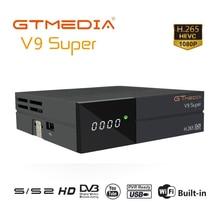 Gtmedia V9 Super DVB S/S2 H.265 HEVC Satellite Receiver Unterstützung Volle PowerVu DRE & Biss schlüssel Gebaut in 2,4G WIFI Youtube Wetter Satelliten-TV-Receiver    -
