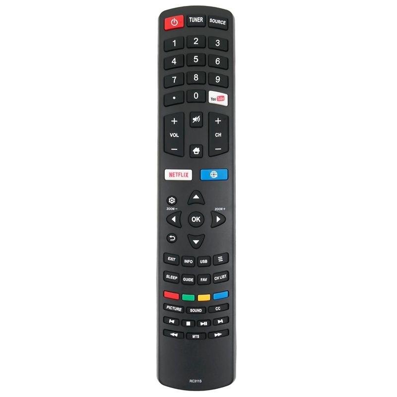 Новый пульт дистанционного управления RC311S Замена для TCL Smart LED LCD TV 06-531W52-TY01X