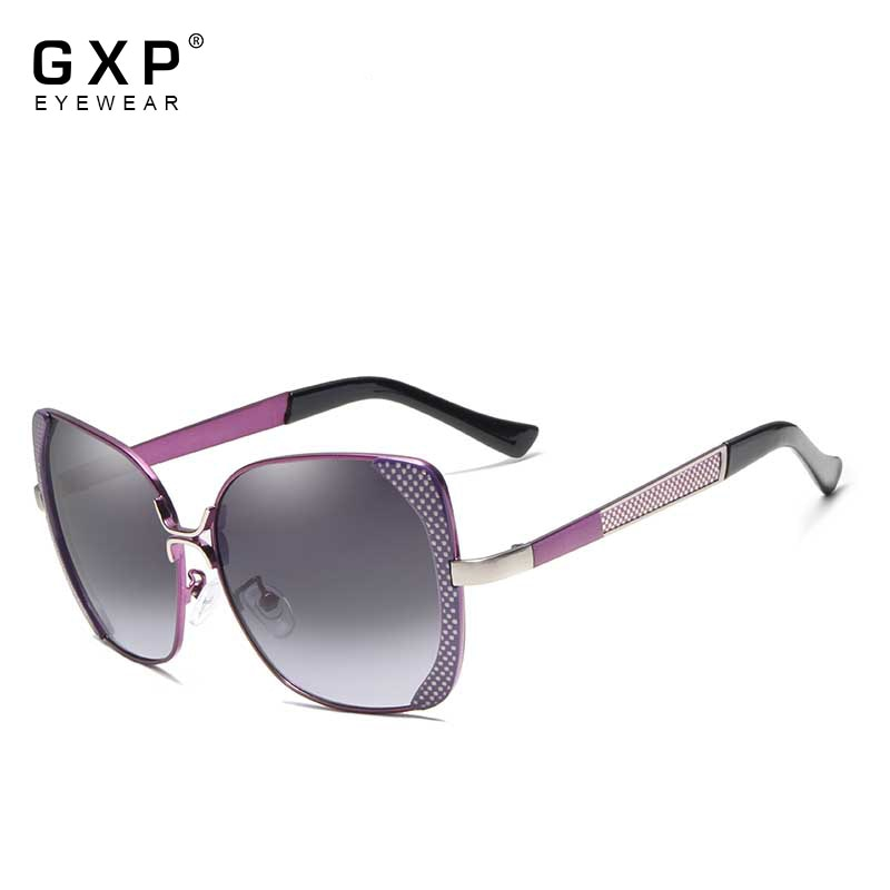 GXP Brand Design Luxury Women Polarized Sunglasses Ladies Gradient Butterfly Sun Glasses Female Vint
