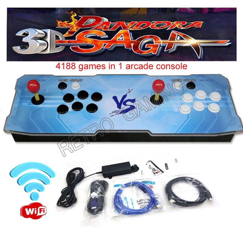 Pandora Saga 3D игровая консоль, WIFI версия 4188 в 1, аркадная печатная плата, HD видео 160 3D игр, джойстик, контроллер VGA HDMI