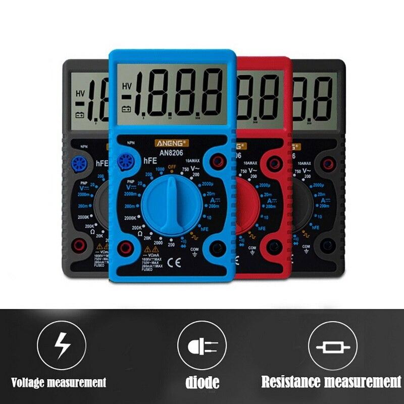 Multímetro Digital probador pantalla LCD voltímetro electricista alta precisión pantalla grande probador de voltaje portátil