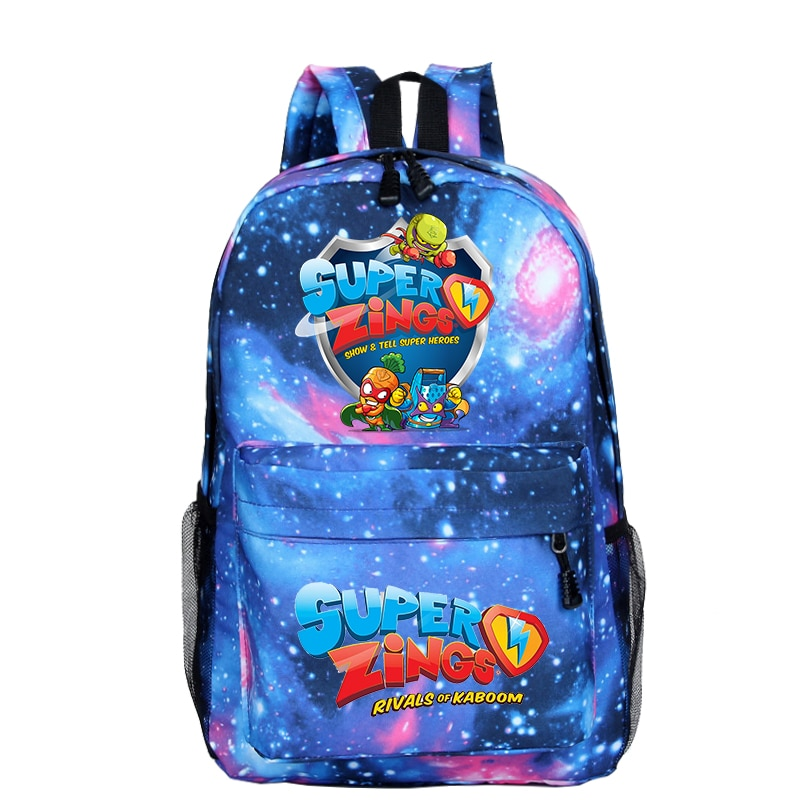 Mochila Super Zings Backpack Women Bookbag Para Hombre Plecak School Bags for Girls Sac A Dos Homme Galaxy Small Backpack Kids
