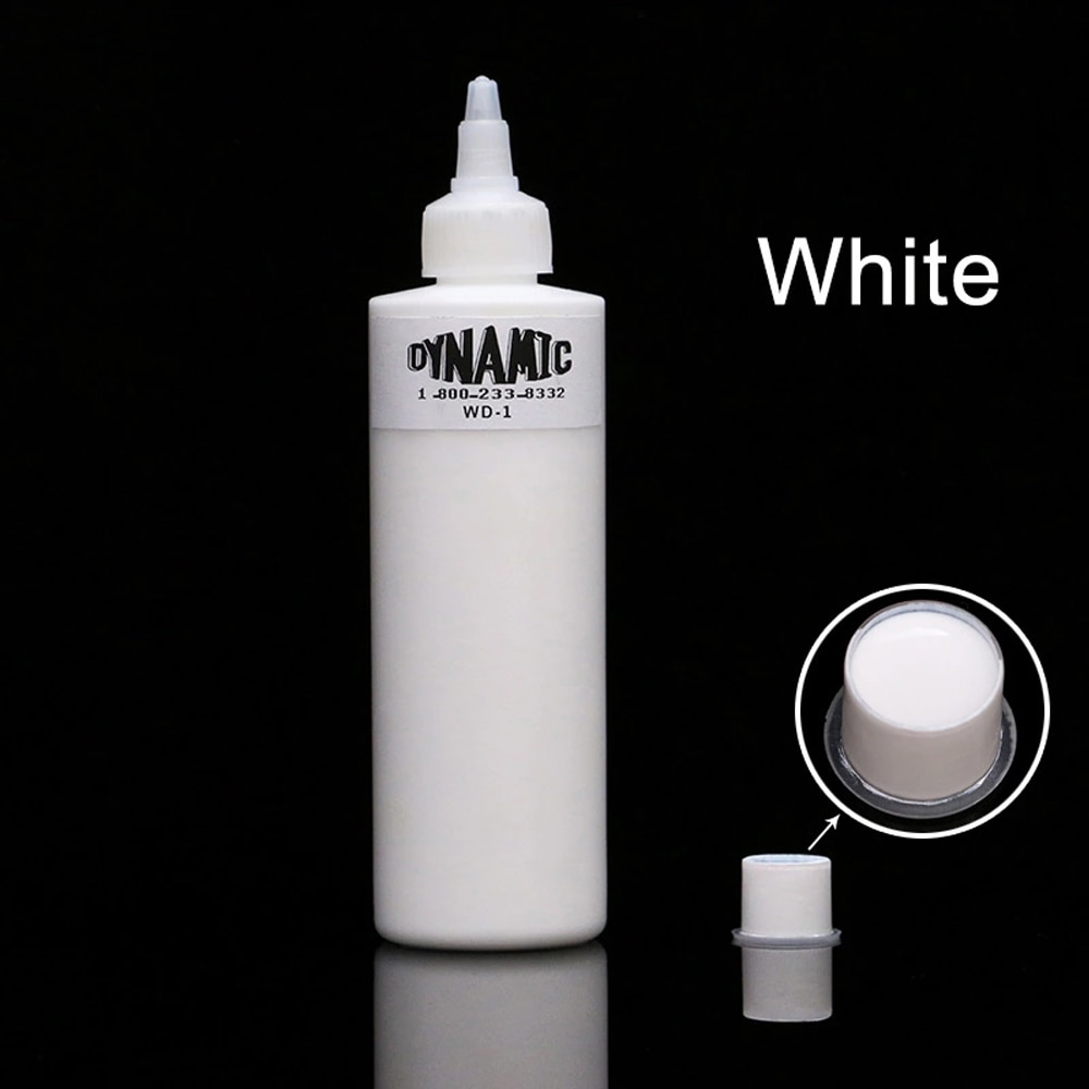 DYNAMIC Professional 240ml White Tattoo Ink Permanent Makeup Pigment Microblading for Eyebrow Eyeliner Lip Body Makeup Supplies
