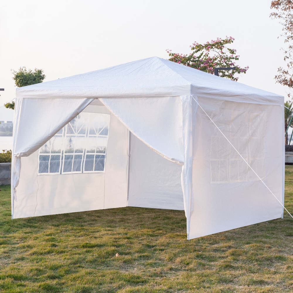 3 x 3m Four Sides Outdoor Wedding Party Tent Camping Shelter Gazebo Canopy Easy Setup Gazebo BBQ Pavilion Canopy Cater Events enlarge