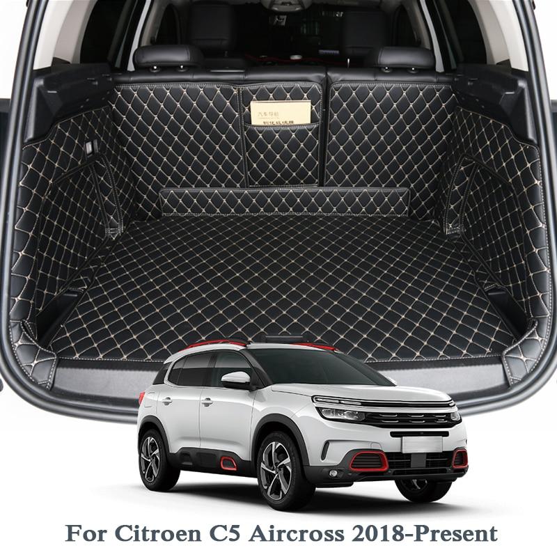 Für Citroen C5 Aircross Niedrigen/Hohe Mach 2018 2019 Auto Boot Mat Hinten Stamm Liner Cargo Floor Teppich Tablett schutz Zubehör Matten
