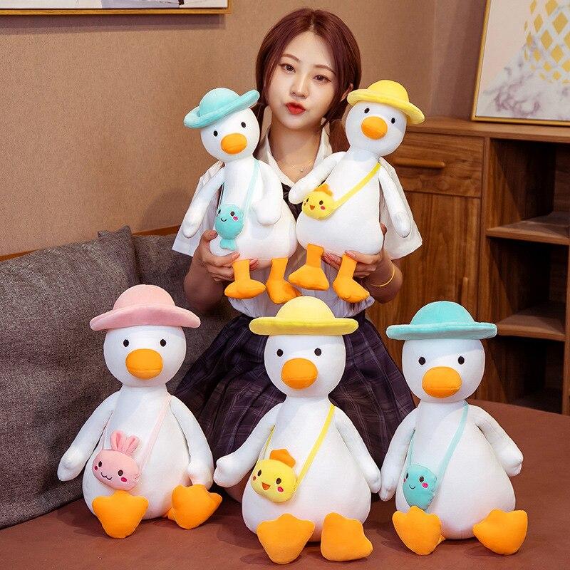 Утка Плюшевые игрушки утка кукла белая утка мягкие животные игрушки для ребенка подушка подарок на день рождения Декор кавайная утка плюше...