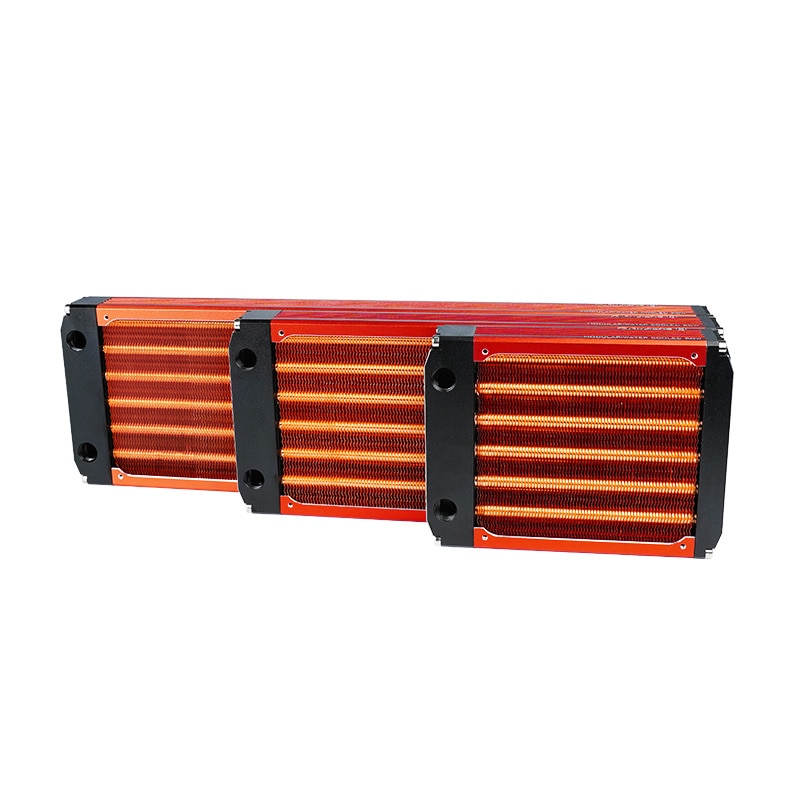 120/240/360mm Watercooling All Copper Radiator For 12cm Fan Computer Heatsink Cooler Master 30mm Thickness Silver/Black ,Red V3 enlarge