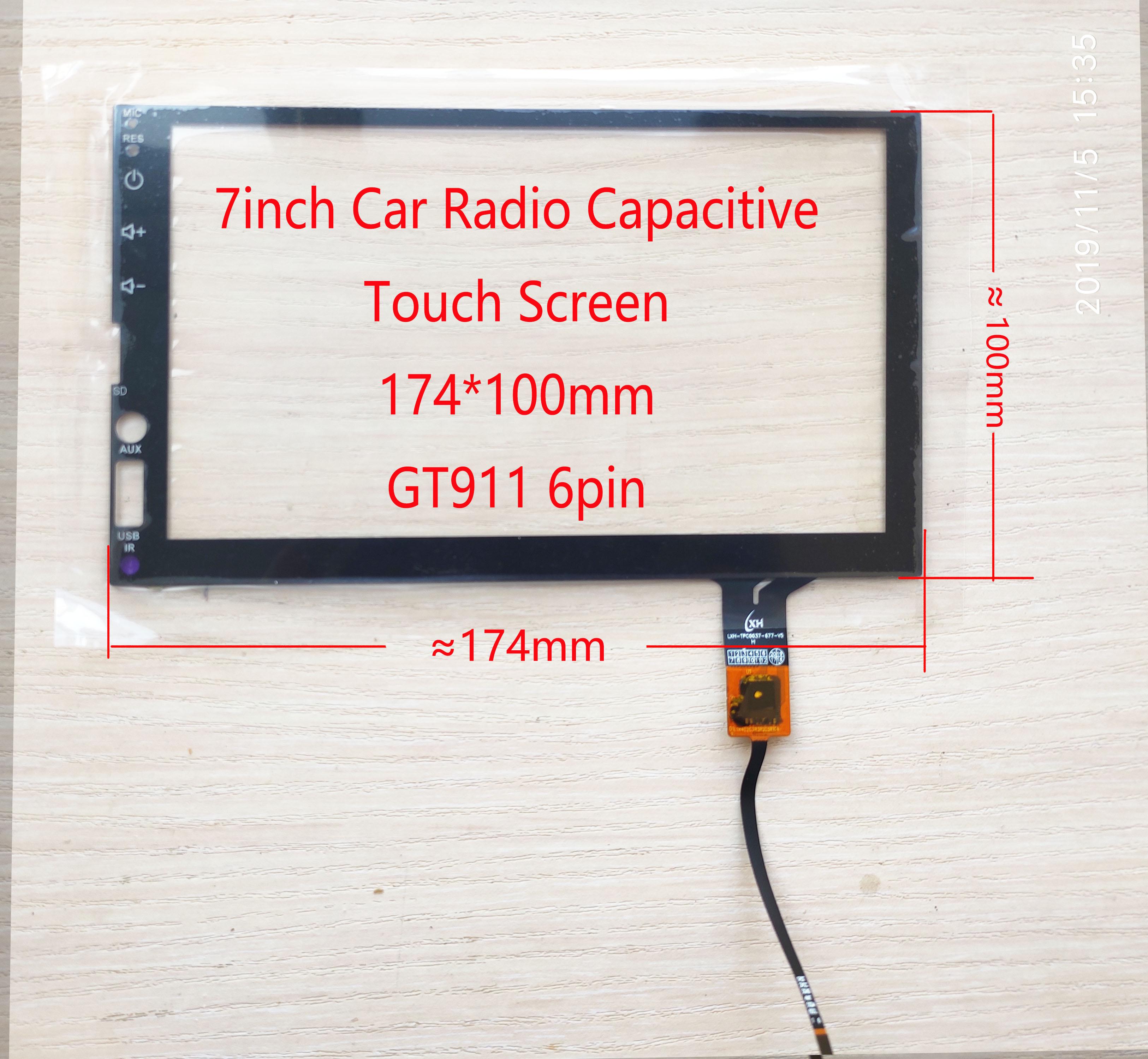 7 inch Car Radio/PC Capacitive Touch Screen  174*100mm GT911 6pin universal LXH-TPC0037-677-V5