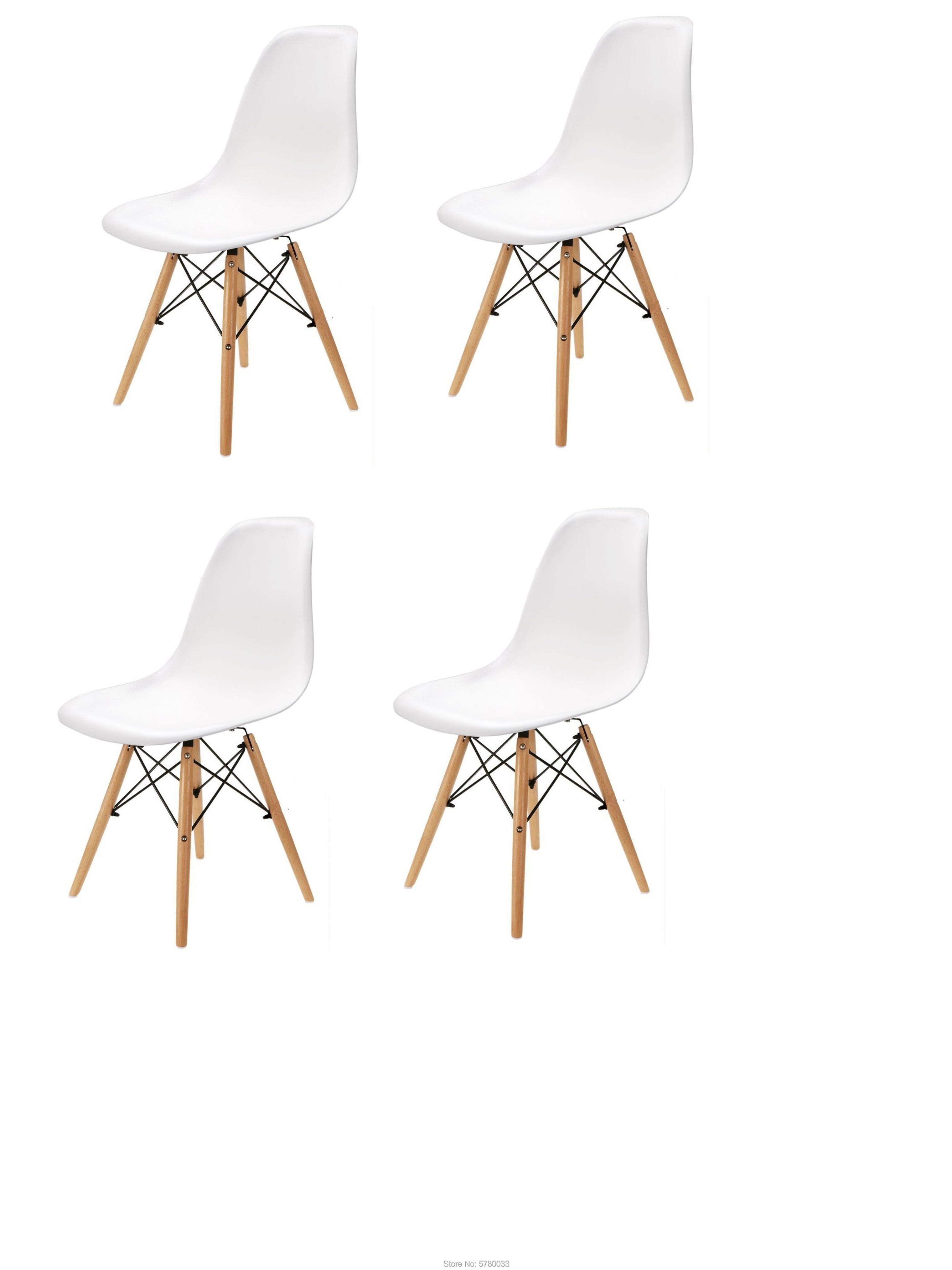 A set of four Scandinavian medieval style dining chairs with solid wood foot furniture, suitable for living room, dining room