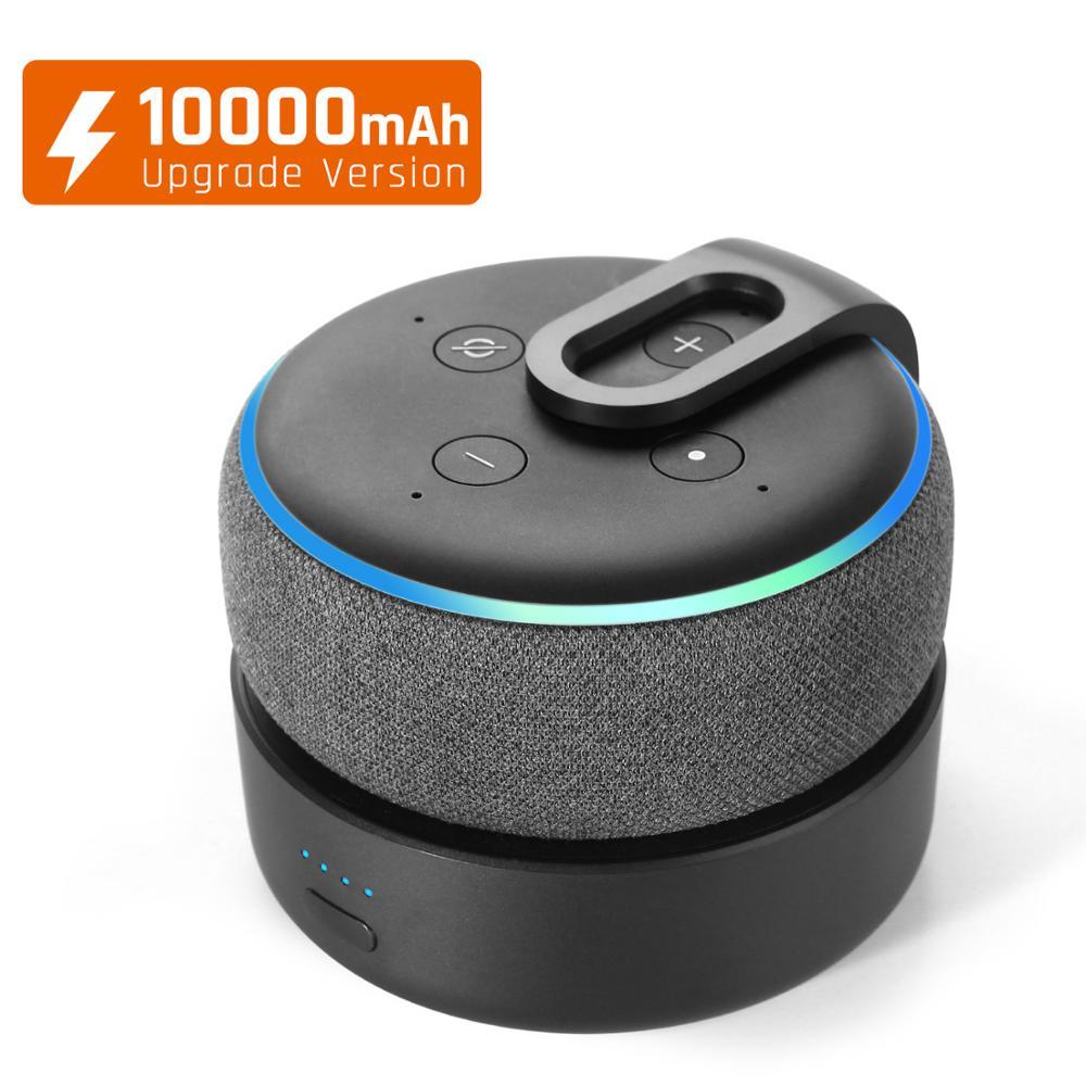 GGMM D3+ Battery Base for Amazon Alexa Echo Dot 3rd Gen Alexa Speaker Mount 10000mAh Battery Charger For Echo Dot 3 16H Playing