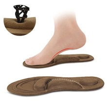 4D Suede Memory Foam Insoles Flat Foot Feet Care Sole Shoe Orthopedic Pads Thermal Sport Sponge Arch