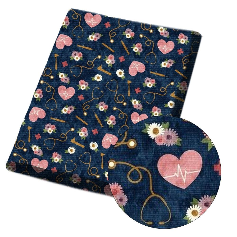JOJO sincline 45*140cm 1pc Polyester coton tissu couleur banderoles imprimé tissu feuilles vêtements couture matériel maison Textile patchs