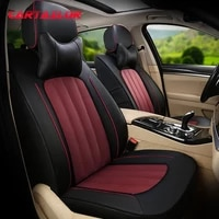 cartailor cover seat cars styling for vw touareg car seat covers supports cowhide artificial leather seats accessories sets