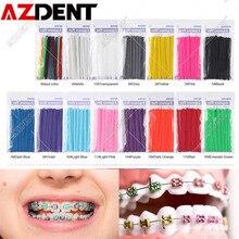 1000 pièces = 20 bâtons Azdent dentaire orthodontique Ligature cravates élastique en caoutchouc dent et dentiste outils accolades dents orthodontie