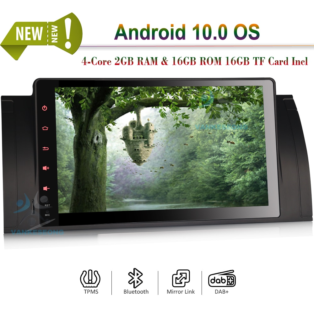 "9 ""Android 10.0 Autoradio Bluetooth Auto Radio GPS Sat Wifi DVB-T2 DAB + DSP Carplay pour BMW 5er E39 E53 M5 X5"