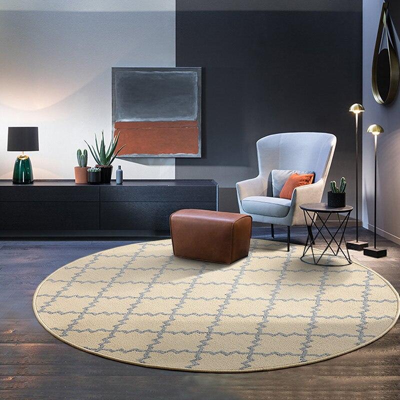 Forma redonda Retro diamante enrejado alfombra marroquí azulejo polvo colección alfombra de piso de alfombra al aire libre
