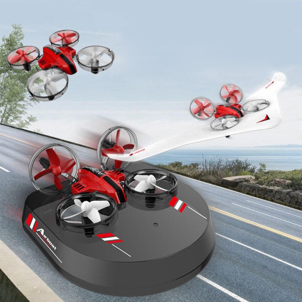 Mini Dron 3 en 1 RC planeador avión aerodeslizador RC Quadcopter con 2,4 Ghz Control remoto 3D Flip modo sin cabeza para niños 2020 nuevo