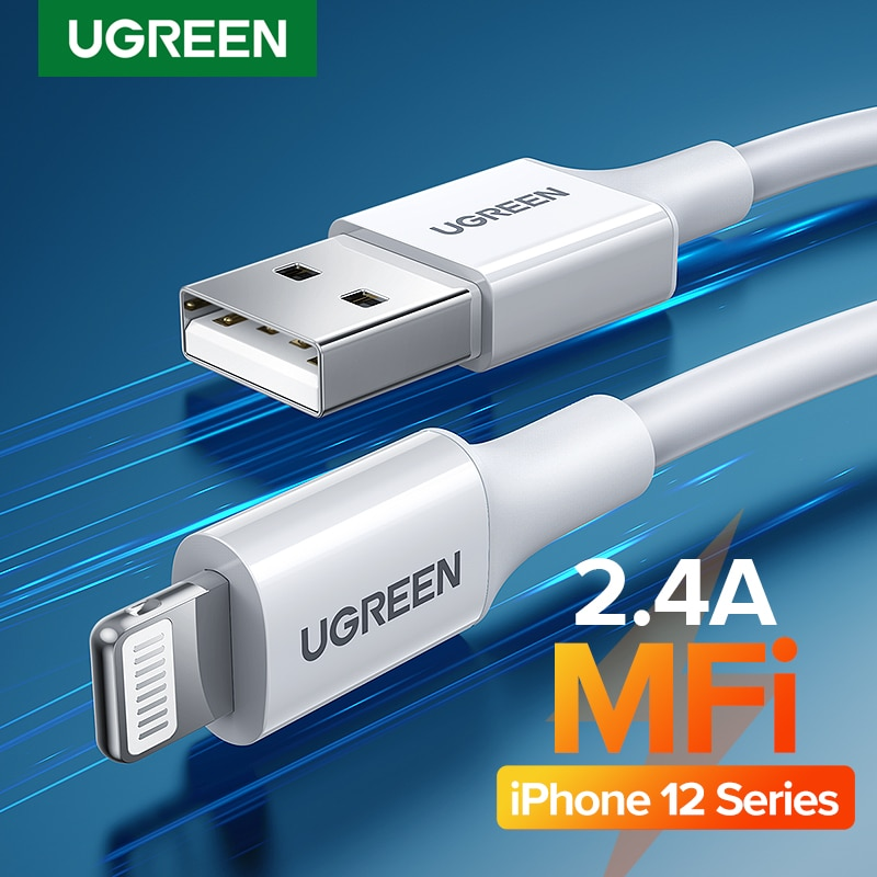 Ugreen MFi USB Cable for iPhone 12 Mini 2.4A Fast Charging USB Charger Data Cable for iPhone 12 Pro