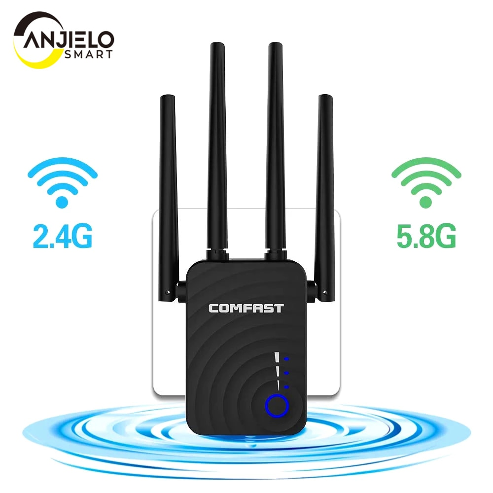 Repetidor extensor de Wifi inalámbrico de 1200Mbps, enrutador, banda Dual AP de...