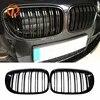 POSSBAY – calandre de course avant noir brillant/noir mat pré-lifting pour BMW série 7 F01/F02/F03/F04 2009 – 2012