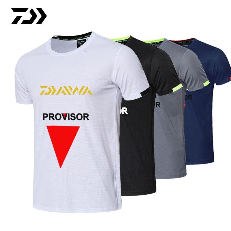 Летняя одежда для рыбалки, Мужская футболка для спорта на открытом воздухе, дышащая быстросохнущая одежда для гольфа и бега, футболка для ры...
