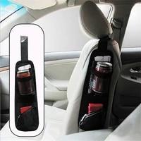 hot auto car seat side hanging bag storage mesh pocket organizer holder automobiles stowing tidying